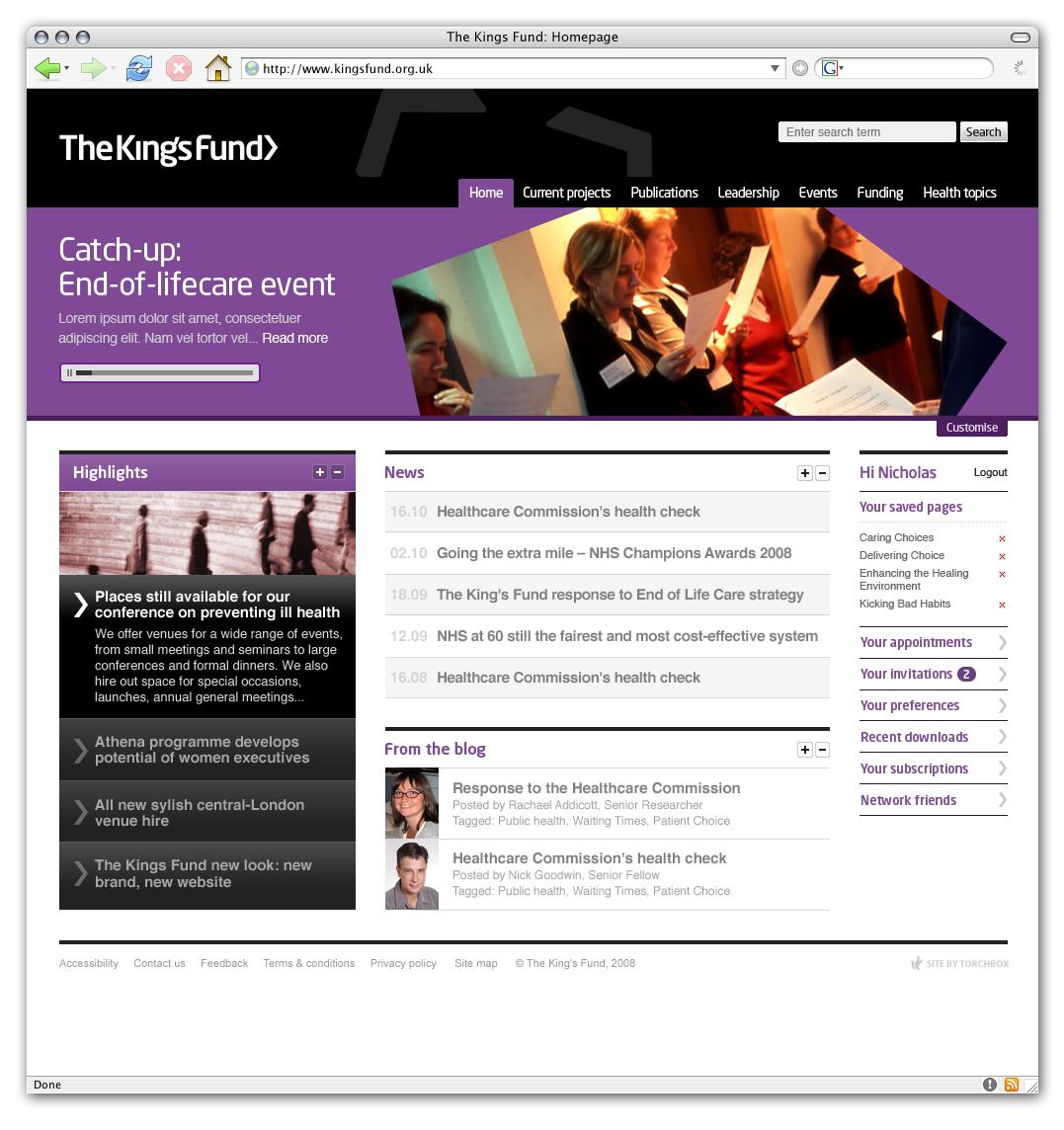 Kingsfund homepage