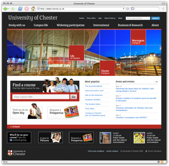 Chester homepage