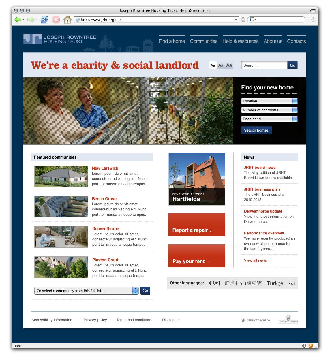 Jrht homepage