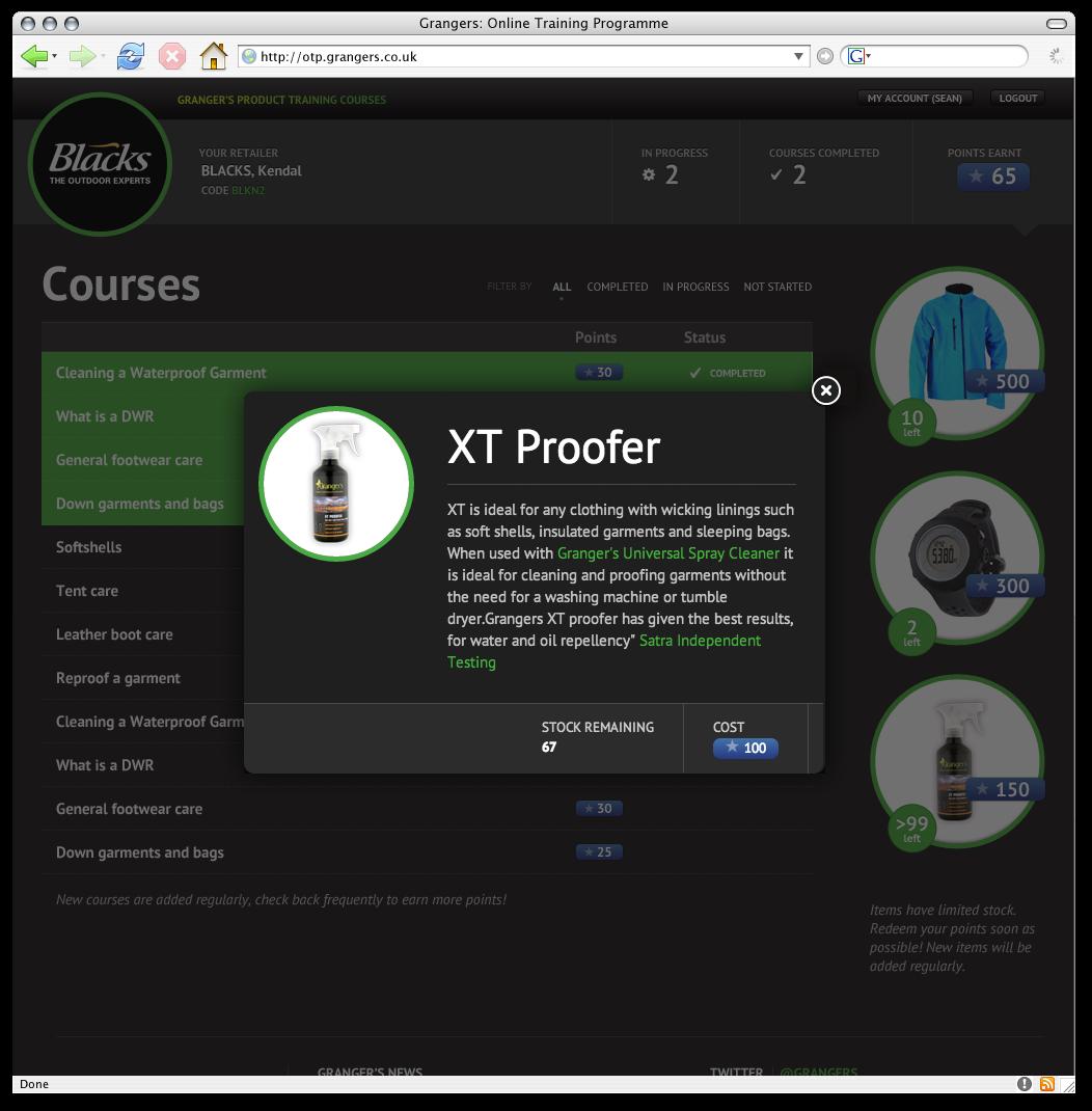 Online Training Programme Screenshot 2